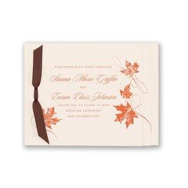 Wedding invitations with ribbon wedding invitations invitations wedding invitations with ribbon fashionable fall invitation stopboris Gallery