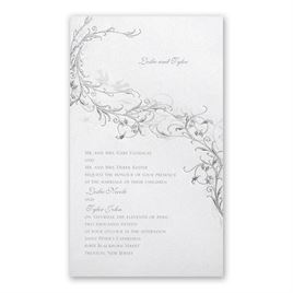 Grey Wedding Invitations: 