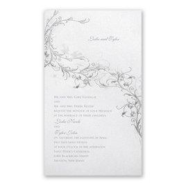 Wedding Invitations: Shimmering Love Birds Invitation