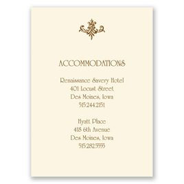 Fine Filigree - Ecru - Accommodations Card