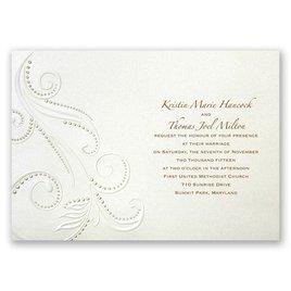Beaded Swirls - Invitation