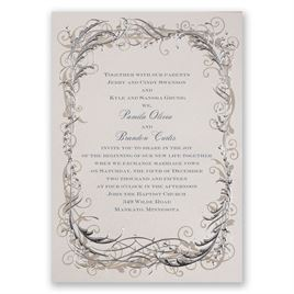 Foil Wedding Invitations: 