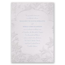 Wedding Invitations: Shimmering Lace Invitation