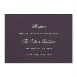 Eggplant - Foil Reception Card