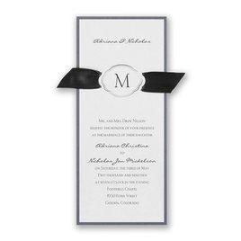 wedding invitations with ribbon celestial crest invitation