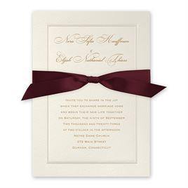 Pearl Frame - Burgundy - Invitation