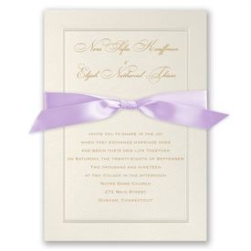 Pearl Frame - Orchid Ribbon