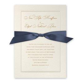 Pearl Frame - Steel Blue - Invitation