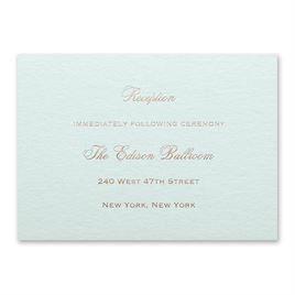 Mist Shimmer - Foil Reception Card