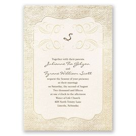 Burlap Wedding Invitations: 