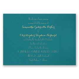 Effortless Beauty - Teal - Foil Invitation