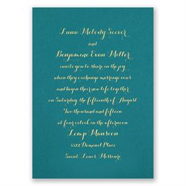 Simply Stunning - Teal - Foil Invitation