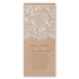 Rustic Wedding Invitations: Naturally Romantic Invitation
