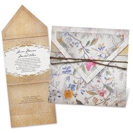 Spanish Wedding Invitations: Antique Floral Invitation