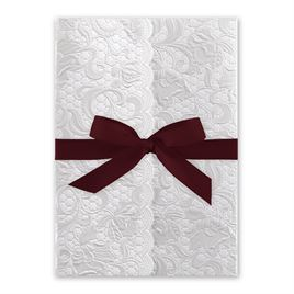 Pearl Vines - Burgundy - Invitation