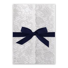 Pearl Vines - Navy - Invitation