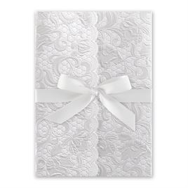 Pearl Vines - White - Invitation