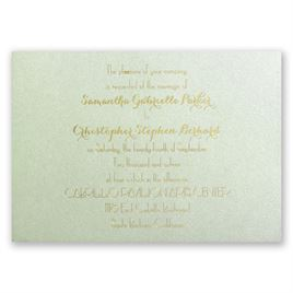 Effortless Beauty - Pistachio Shimmer - Foil Invitation