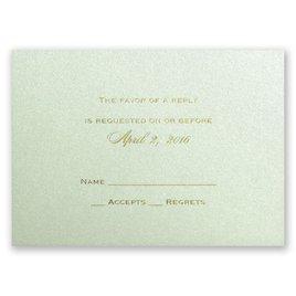Pistachio Shimmer - Foil Response Card