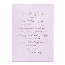 Simply Stunning - Lilac Shimmer - Foil Invitation