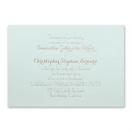 Effortless Beauty - Mist Shimmer - Foil Invitation