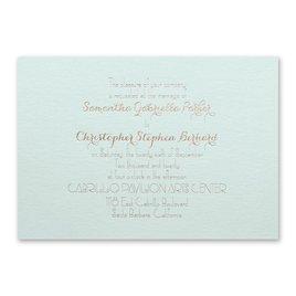 Effortless Beauty - Mist Shimmer - Foil Invitation