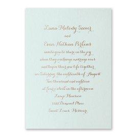 Simply Stunning - Mist Shimmer - Foil Invitation