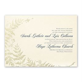 Ferns of Gold Invitation