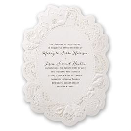 Lace Wedding Invitations: 