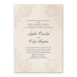 Mandala Lace Invitation