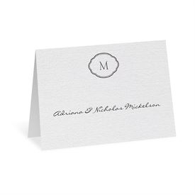 Elegant Thank You Cards: Celestial Crest Thank You Card