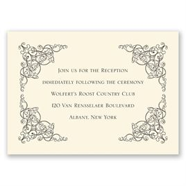 Vintage Vision - Ecru - Reception Card