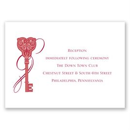 Lock and Key - Reception Card