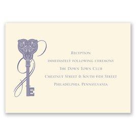 Lock and Key - Ecru - Reception Card