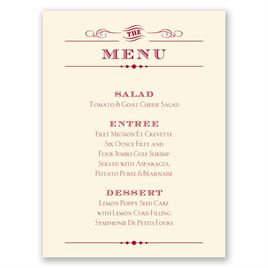 Vintage Type - Ecru - Menu Card