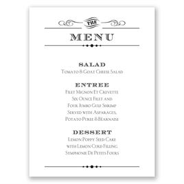 Vintage Type - Menu Card
