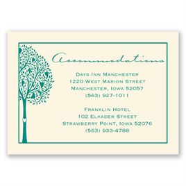 Tree of Love - Ecru - Accommodations Card