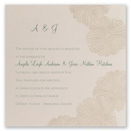 Romance Blooms - Laser Cut Invitation