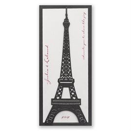Eiffel Tower - Laser Cut Invitation