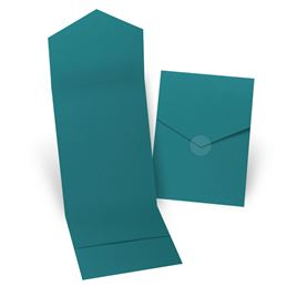 Teal Invitation Pocket