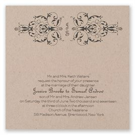 Modern Romantic - Kraft - Laser Cut Invitation