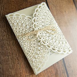Beaming Beauty - Gold Shimmer - Laser Cut Invitation