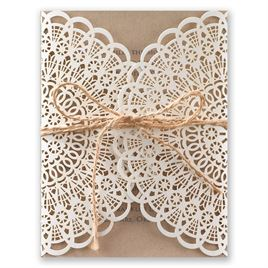 Beaming Beauty - Kraft - Laser Cut Invitation