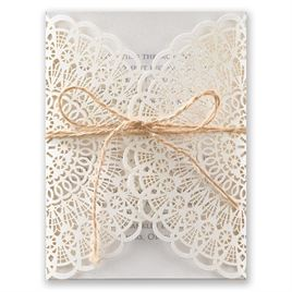 Beaming Beauty - White Shimmer - Laser Cut Invitation