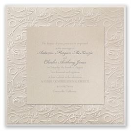 vintage wedding invitations vintage filigree invitation - Wedding Invitations Vintage