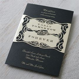 Forever Beautiful - Laser Cut Invitation