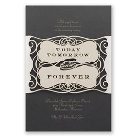Forever Beautiful - Laser Cut Invitation - Wrap