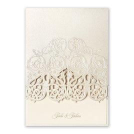 Wedding Invitations: Luminous Filigree Laser Cut Invitation