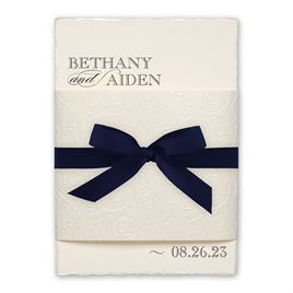 All That Sparkle - Navy - Invitation