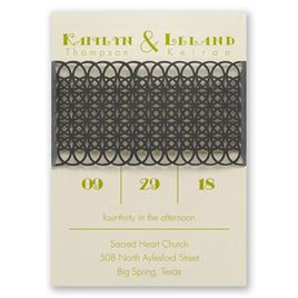 Simply Striking - Laser Cut Invitation